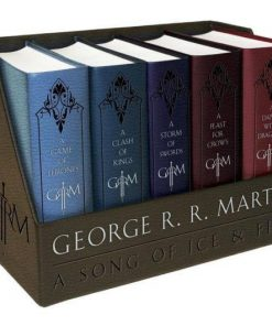 George R. R. Martins A Game Of Thrones Leather-Cloth Boxed Set - 5 Books -- New
