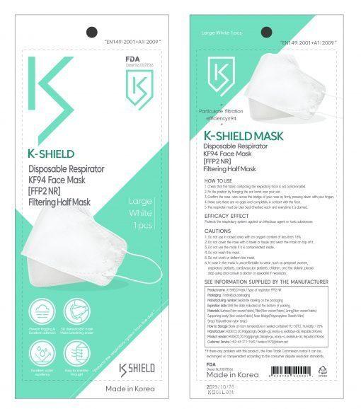 Korean KF94 Face Mask K-Shield Mask 10 pcs/Pack