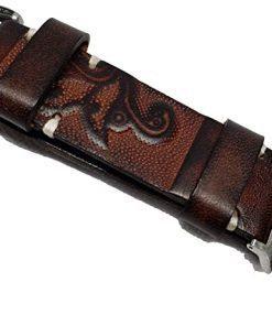 Vintage Handmade Tooled Apple Watch Band / Leather watch band / For Apple Watch Series 5, 4, 3, 2, 1, - 38/40mm For All Occasion (Rose Brown, 42-44mm)