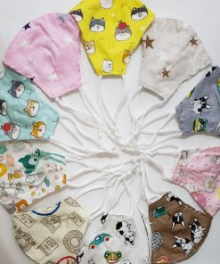Reusable Kids Cloth Face Mask Set With PM 2.5 Filters